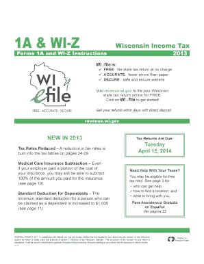 wi z 2014 fill printable fillable
