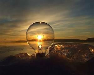 sunset, light, photography, through, the, bulb