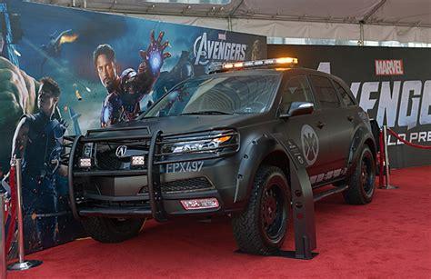 acura cars assemble  marvels  avengers superherohype