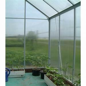 Serre De Jardin Polycarbonate : serre de jardin aluminium polycarbonate 4mm 250x190x195cm ~ Dailycaller-alerts.com Idées de Décoration