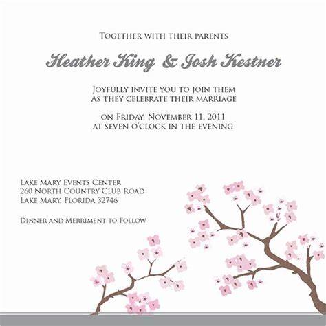 Wedding Invitation Template for Word Beautiful Wedding