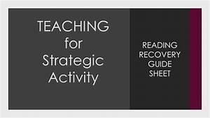 Teaching For Strategic Activity Guide Sheet Reading