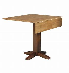 [36 Inch] Square Dropleaf Dining Table - Wood You