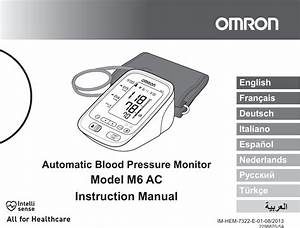 Omron M6 Ac Users Manual Hem 7322 E A M