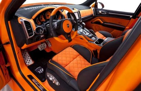 Auto Interiors And Upholstery by Porsche Cayenne S Hybrid The 50 Most Outrageous Custom