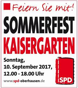 Verkaufsoffener Sonntag Oberhausen 2017 : oberhausens spd l dt ein zum familienfest im kaisergarten spd ~ Orissabook.com Haus und Dekorationen