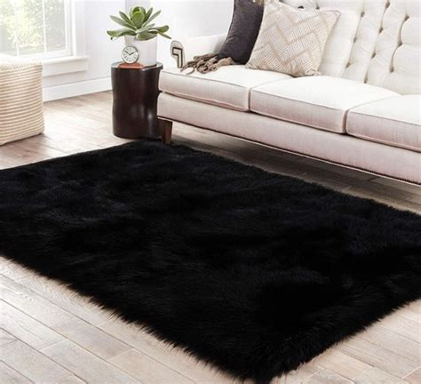 fluffy black area rug  sale  tampa fl offerup