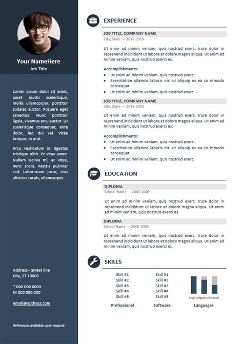 Best Free Cv Templates by Orienta Free Professional Resume Cv Template