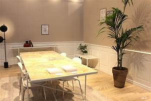 emejing table salle a manger marbre design pictures home With table a manger design