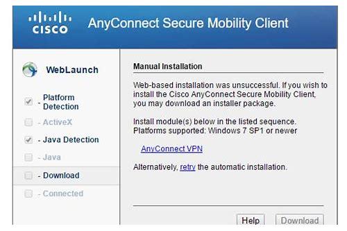 cisco anyconnect secure vpn baixar do client 3.1