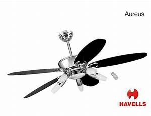 Havells aureus quot ceiling fan with under light decorative