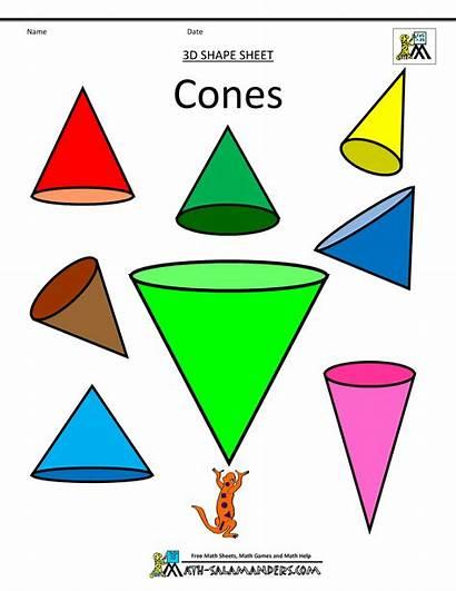 Shape Clipart Shapes Cone Cones 3d Corn