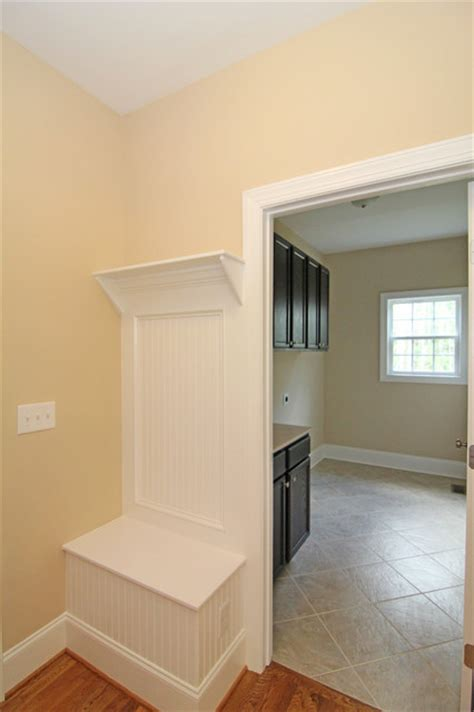 drop zone bench  laundry room farmhouse laundry room raleigh  stanton homes
