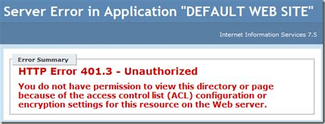 Compile Tpload Failed To Load Template Template Pagination Pager Html by Fixing The Http Error 401 3 Unauthorized Issue In Iis