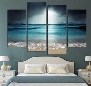 Wall art beach scenes bedroom decoration ideas Home