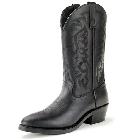 Genuine Leather Punk Motorcycle Western Cowboy Boots