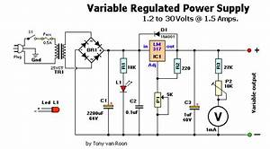 How To Build 1 2 1 5a Variable Regulated Power Supply Circuit
