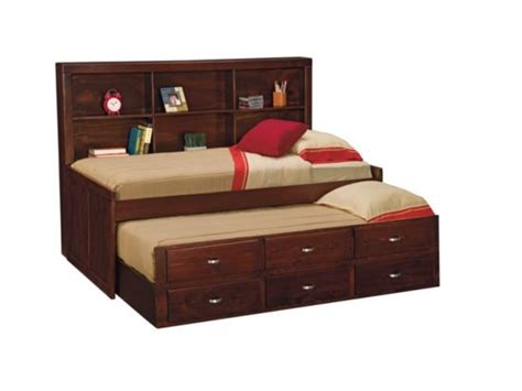 Varsity Merlot Twin Daybed With Trundle