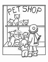 Coloring Pet Animal Popular sketch template