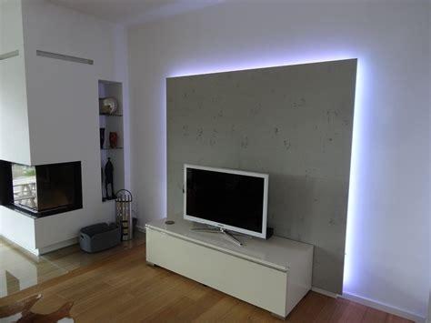 tvschrank wohnzimmer rueckwand mit led von lauer die