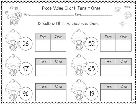 math tens and ones worksheets grade place values