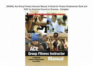 Ace Group Fitness Instructor Handbook 2016