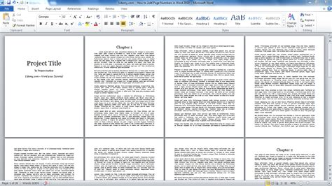 how to add page numbers in word 2010