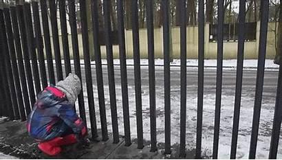 Gate Fancy Fence Into Ground Fences Below