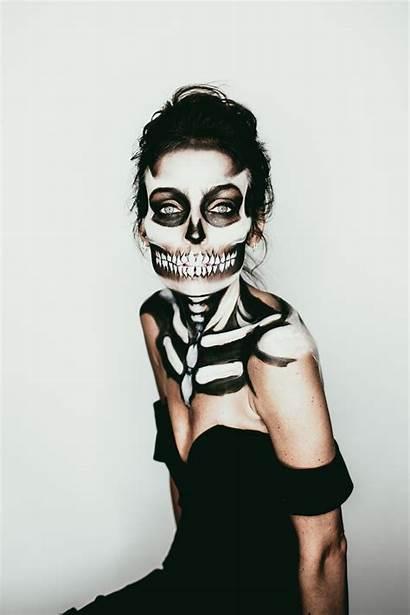 Halloween Makeup Bones Lowe Stylowi Skeleton Emily