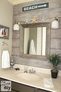 Beach theme bathroom love the quot drift wood behind