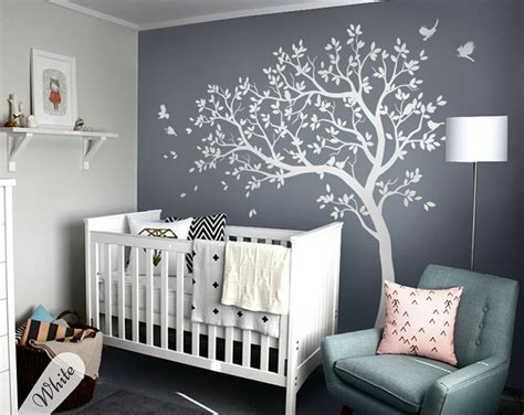 wall decoration stickers large white tree wall decal wall mural stickers for