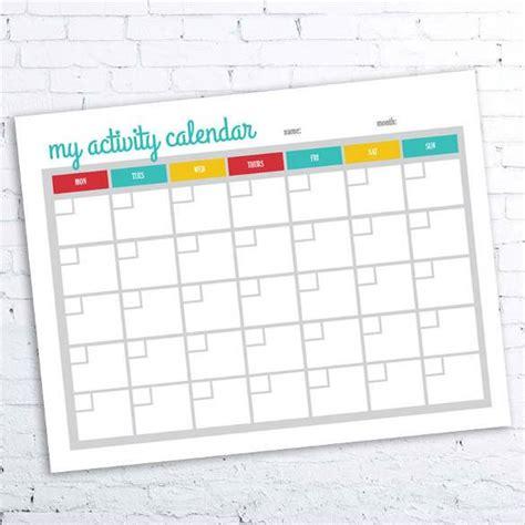 activity calendar template 39 blank calendar template free premium templates