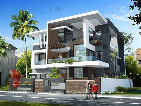 exterior house painting colors visualization gallery architectural 3d bungalow rendering modern 3d