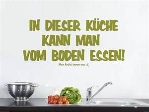 Wandtattoo Sprüche Küche : lustiges wandtattoo f r die k che in dieser k che kann man vom boden essen man findet immer was ~ Frokenaadalensverden.com Haus und Dekorationen
