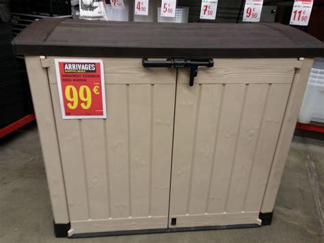 coffre de rangement brico depot coffre de jardin keter 845l 224 99 au lieu de 200e en magasin brico depot 99 en magasin