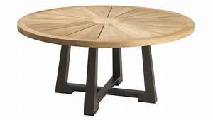 Table De Jardin Ronde En Bois : table ronde de jardin contemporaine en bois ralph ~ Dailycaller-alerts.com Idées de Décoration