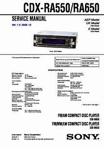 Sony Cdx Ra700 Wiring Diagram