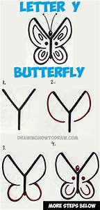How to Draw a Butterfly from the Letter Y - Easy Step by ...
