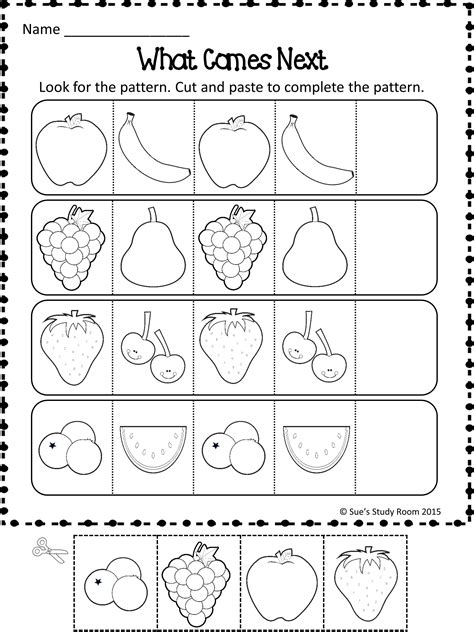 patterns fruit patterns worksheets education kindergarten math worksheets kindergarten