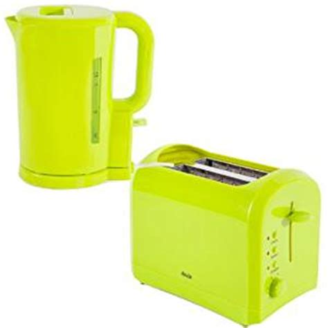 Green Kettle And Toaster Set - abode lime green electric cordless jug kettle and 2 slice