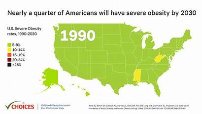 Obesity State Severe Prevalence Adult Level Projected