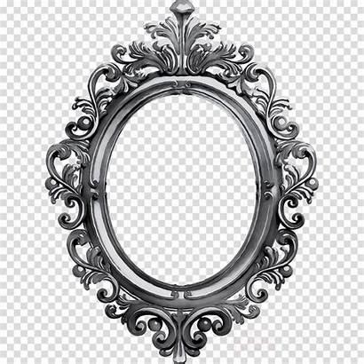 Frame Clipart Mirror Victorian Ornament Transparent Metal