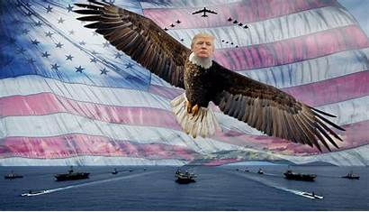 Trump Background Donald Desktop America Again Wallpapers