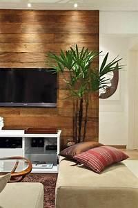 Wandgestaltung Ideen Wohnzimmer : wandgestaltung mit holzpaneele ~ Yasmunasinghe.com Haus und Dekorationen