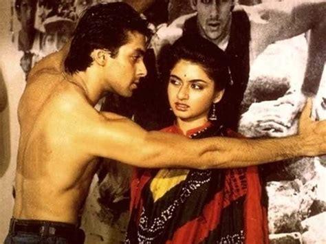 salman khan flirted  bhagyashree  shooting maine