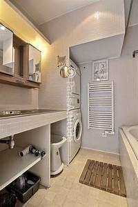 Lave Linge Dans Salle De Bain : machine a laver sous lavabo maison design ~ Preciouscoupons.com Idées de Décoration
