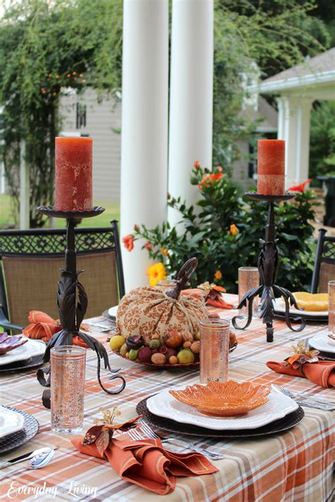 """Tablescape Tuesday """"plaid"""" To Welcome Autumn"""
