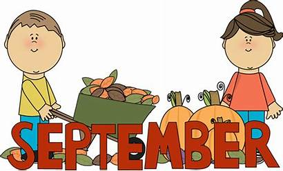 September Clipart Fall Clip Months Word Things