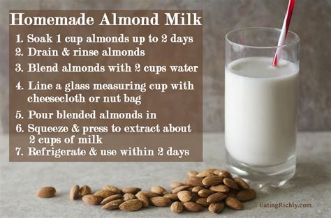 milk almond almonds homemade recipe raw juicer blender benefits does fresh organic they easy cup eatingrichly step tutorial