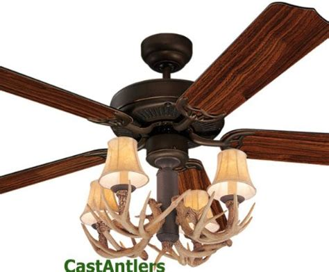 deer antler ceiling fan for sale gt cheap dark rustic bronze ceiling fan w antler 4